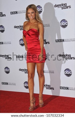 LOS ANGELES, CA - NOVEMBER 1, 2010: Kym Johnson at the 200th episode party for Dancing With The Stars at Boulevard 3 in Hollywood.
