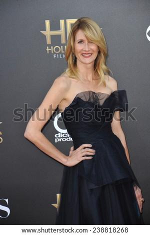 LOS ANGELES, CA - NOVEMBER 14, 2014: Laura Dern at the 2014 Hollywood Film Awards at the Hollywood Palladium.  - stock photo