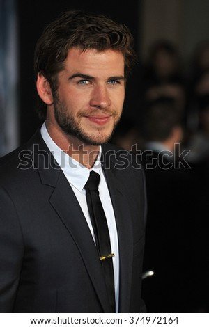 "LOS ANGELES, CA - NOVEMBER 4, 2013: Liam Hemsworth at the US premiere of ""Thor: The Dark World"" at the El Capitan Theatre, Hollywood. Picture: Paul Smith / Featureflash"