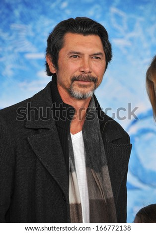 "LOS ANGELES, CA - NOVEMBER 19, 2013: Lou Diamond Phillips at the premiere of Disney's ""Frozen"" at the El Capitan Theatre, Hollywood."