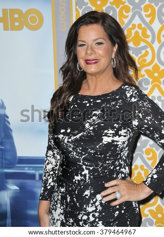 "LOS ANGELES, CA - NOVEMBER 4, 2014: Marcia Gay Harden at the season three premiere of her HBO series ""The Newsroom"" at the Directors Guild of America Theatre, West Hollywood."