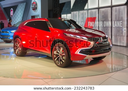 Los Angeles, CA - November 19, 2014: Mitsubishi XR-PHEV 2015 on display at the LA Auto Show