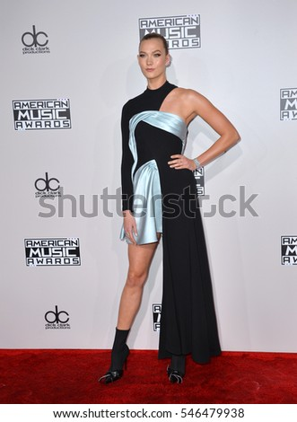 LOS ANGELES, CA. November 20, 2016: Model Karlie Kloss at the 2016 American Music Awards at the Microsoft Theatre, LA Live.