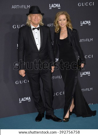 LOS ANGELES, CA - NOVEMBER 7, 2015: Musician Joe Walsh & wife Marjorie Bach at the 2015 LACMA Art+Film Gala at the Los Angeles County Museum of Art