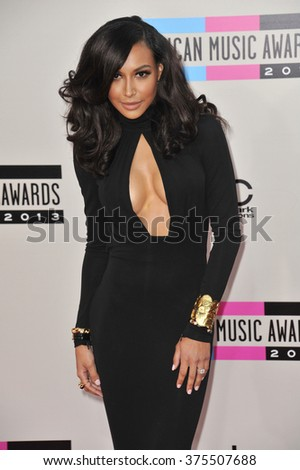 LOS ANGELES, CA - NOVEMBER 24, 2013: Naya Rivera at the 2013 American Music Awards at the Nokia Theatre, LA Live.  - stock photo