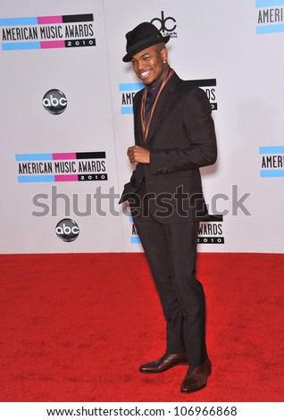 LOS ANGELES, CA - NOVEMBER 21, 2010: Ne-Yo at the 2010 American Music Awards at the Nokia Theatre L.A. Live.