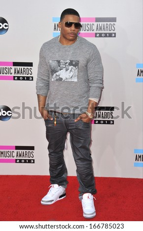 LOS ANGELES, CA - NOVEMBER 24, 2013: Nelly at the 2013 American Music Awards at the Nokia Theatre, LA Live.