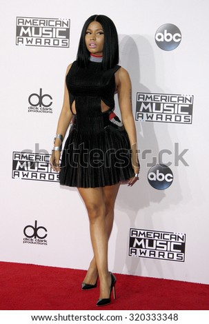 LOS ANGELES, CA - NOVEMBER 23, 2014: Nicki Minaj at the 2014 American Music Awards held at the Nokia Theatre L.A. Live in Los Angeles on November 23, 2014. - stock photo
