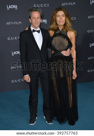 LOS ANGELES, CA - NOVEMBER 7, 2015: Producer Brian Grazer & guest at the 2015 LACMA Art+Film Gala at the Los Angeles County Museum of Art