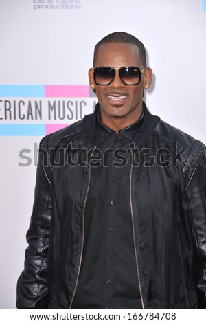 LOS ANGELES, CA - NOVEMBER 24, 2013: R. Kelly at the 2013 American Music Awards at the Nokia Theatre, LA Live.  - stock photo