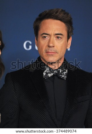 LOS ANGELES, CA - NOVEMBER 2, 2013: Robert Downey Jr at the 2013 LACMA Art+Film Gala at the Los Angeles County Museum of Art.
