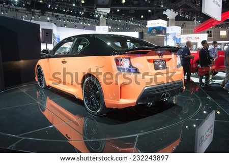 Los Angeles, CA - November 19, 2014: Scion TC 2015 on display on display at the LA Auto Show