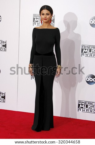 LOS ANGELES, CA - NOVEMBER 23, 2014: Selena Gomez at the 2014 American Music Awards held at the Nokia Theatre L.A. Live in Los Angeles on November 23, 2014. - stock photo