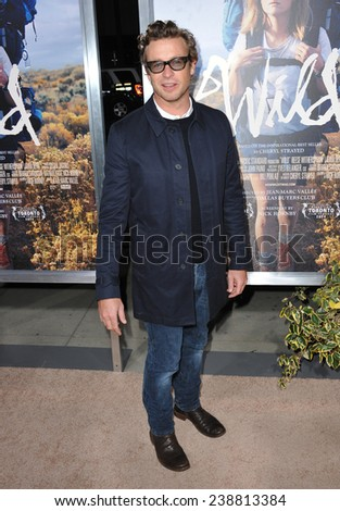 "LOS ANGELES, CA - NOVEMBER 19, 2014: Simon Baker at the Los Angeles premiere of ""Wild"" at the Samuel Goldwyn Theatre, Beverly Hills."