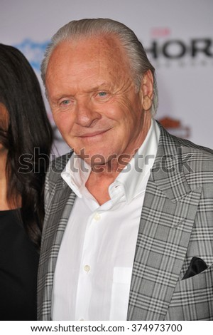 "LOS ANGELES, CA - NOVEMBER 4, 2013: Sir Anthony Hopkins at the US premiere of his movie ""Thor: The Dark World"" at the El Capitan Theatre, Hollywood. Picture: Paul Smith / Featureflash - stock photo"