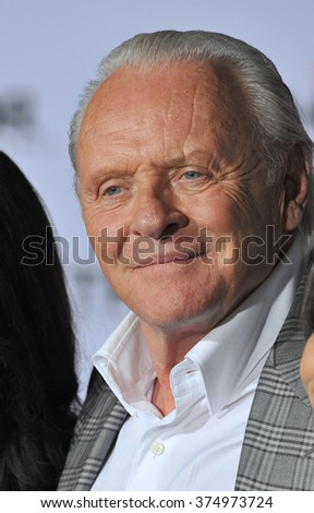 "LOS ANGELES, CA - NOVEMBER 4, 2013: Sir Anthony Hopkins at the US premiere of his movie ""Thor: The Dark World"" at the El Capitan Theatre, Hollywood. Picture: Paul Smith / Featureflash"