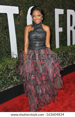 "LOS ANGELES, CA - NOVEMBER 11, 2013: Terry Pheto at the Los Angeles premiere of her movie ""Mandela: Long Walk to Freedom"" at the Cinerama Dome, Hollywood."