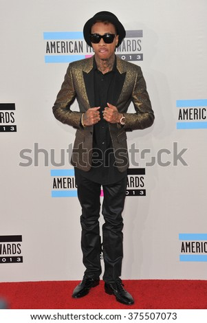LOS ANGELES, CA - NOVEMBER 24, 2013: Tyga at the 2013 American Music Awards at the Nokia Theatre, LA Live.