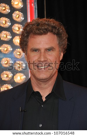 "LOS ANGELES, CA - NOVEMBER 15, 2010: Will Ferrell at the Los Angeles premiere of ""Burlesque"" at Grauman's Chinese Theatre, Hollywood. - stock photo"
