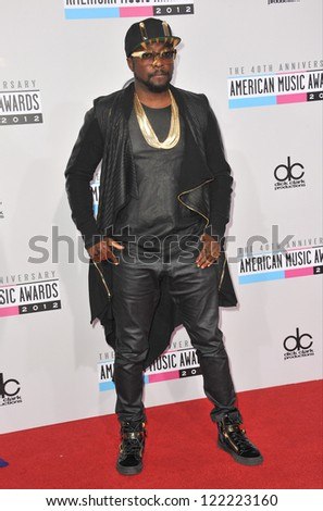 LOS ANGELES, CA - NOVEMBER 18, 2012: Will.I.Am at the 40th Anniversary American Music Awards at the Nokia Theatre LA Live.