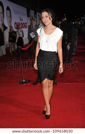 "LOS ANGELES, CA - NOVEMBER 9, 2009: Zelda Willams, daughter of Robin Williams, at the world premiere of Walt Disney's ""Old Dogs"" at the El Capitan Theatre, Hollywood. - stock photo"