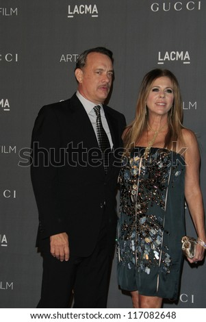 LOS ANGELES, CA - OCT 27: Tom Hanks, Rita Wilson at the LACMA 2012 Art + Film Gala at LACMA on October 27, 2012 in Los Angeles, California