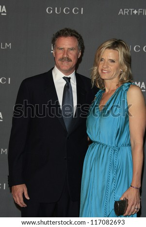 LOS ANGELES, CA - OCT 27: Will Ferrell, wife at the LACMA 2012 Art + Film Gala at LACMA on October 27, 2012 in Los Angeles, California