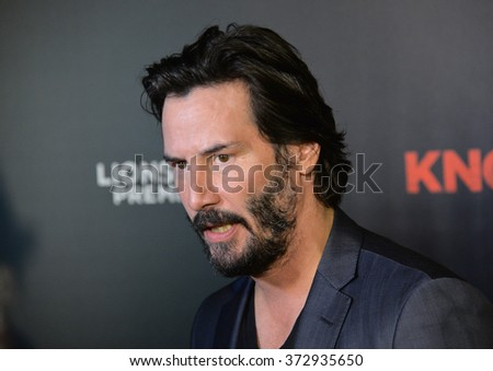 "LOS ANGELES, CA - OCTOBER 7, 2015: Actor Keanu Reeves at the Los Angeles premiere of his movie ""Knock Knock"" at the TCL Chinese Theatre, Hollywood.