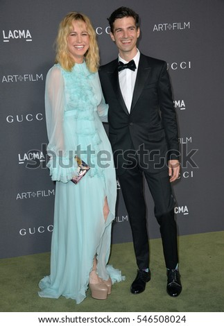 LOS ANGELES, CA. October 29, 2016: Actress Brie Larson & fiance singer Alex Greenwald at the 2016 LACMA Art+Film Gala at the Los Angeles County Museum of Art.