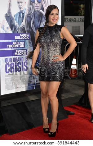 "LOS ANGELES, CA - OCTOBER 26, 2015: Actress Carla Ortiz at the premiere of  ""Our Brand is Crisis"" at the TCL Chinese Theatre, Hollywood."