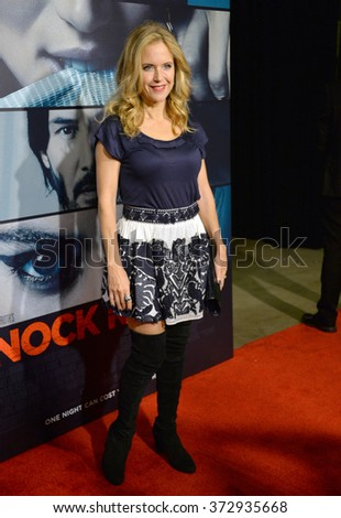 "LOS ANGELES, CA - OCTOBER 7, 2015: Actress Kelly Preston at the Los Angeles premiere of  ""Knock Knock"" at the TCL Chinese Theatre, Hollywood.