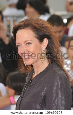 "LOS ANGELES, CA - OCTOBER 27, 2009: Allison Janney at the premiere of Michael Jackson's ""This Is It"" at the Nokia Theatre, L.A. Live. - stock photo"