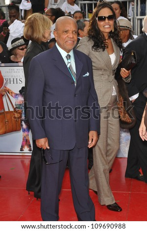 "LOS ANGELES, CA - OCTOBER 27, 2009: Berry Gordy at the premiere of Michael Jackson's ""This Is It"" at the Nokia Theatre, L.A. Live."