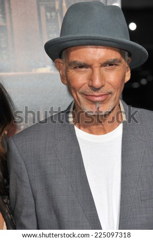 "LOS ANGELES, CA - OCTOBER 1, 2014: Billy Bob Thornton at the Los Angeles premiere of his movie ""The Judge"" at the Samuel Goldwyn Theatre, Beverly Hills.  - stock photo"