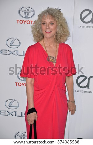LOS ANGELES, CA - OCTOBER 24, 2015: Blythe Danner at the 25th Annual Environmental Media Awards at Warner Bros. Studios, Burbank, CA.