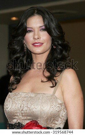 LOS ANGELES, CA - OCTOBER 16, 2005: Catherine Zeta-Jones at the Los Angeles premiere of 'The Legend of Zorro' held at the Orpheum Theater in Los Angeles, USA on October 16, 2005.