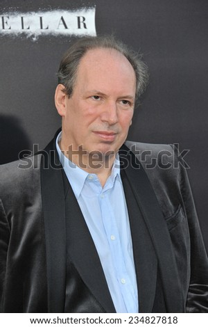LOS ANGELES, CA - OCTOBER 26, 2014: Composer Hans Zimmer at the Los Angeles premiere of his movie Interstellar at the TCL Chinese Theatre, Hollywood.