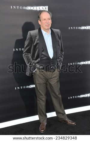 LOS ANGELES, CA - OCTOBER 26, 2014: Composer Hans Zimmer at the Los Angeles premiere of his movie Interstellar at the TCL Chinese Theatre, Hollywood.  - stock photo