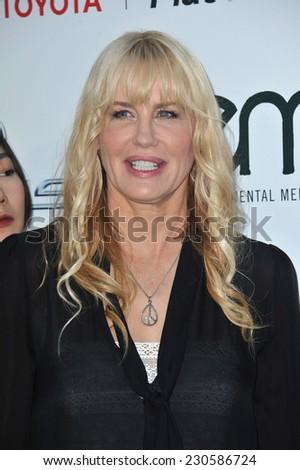 LOS ANGELES, CA - OCTOBER 18, 2014: Daryl Hannah at the 2014 Environmental Media Awards at Warner Bros Studios, Burbank.  - stock photo
