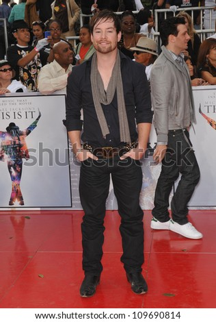 "LOS ANGELES, CA - OCTOBER 27, 2009: David Cook at the premiere of Michael Jackson's ""This Is It"" at the Nokia Theatre, L.A. Live. - stock photo"