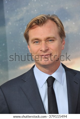 LOS ANGELES, CA - OCTOBER 26, 2014: Director Christopher Nolan at the Los Angeles premiere of his movie Interstellar at the TCL Chinese Theatre, Hollywood. - stock photo