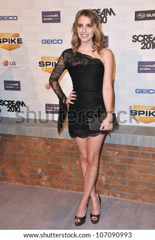 LOS ANGELES, CA - OCTOBER 16, 2010: Emma Roberts at Spike TV's 2010 Scream Awards at the Greek Theatre, Griffith Park, Los Angeles.