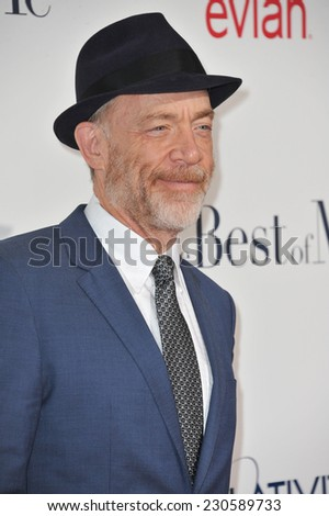 "LOS ANGELES, CA - OCTOBER 7, 2014: J.K. Simmons at the world premiere of ""The Best of Me"" at the Regal Cinemas LA Live."