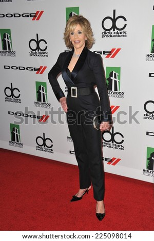 LOS ANGELES, CA - OCTOBER 13, 2013: Jane Fonda at the 17th Annual Hollywood Film Awards at the Beverly Hilton Hotel.  - stock photo
