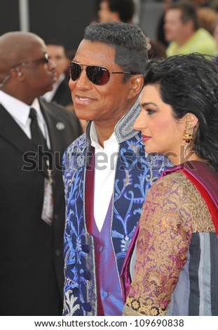 "LOS ANGELES, CA - OCTOBER 27, 2009: Jermaine Jackson at the premiere of Michael Jackson's ""This Is It"" at the Nokia Theatre, L.A. Live. - stock photo"