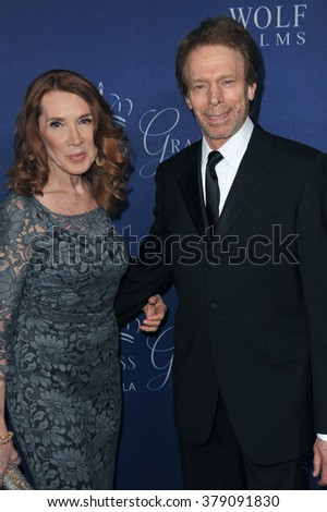 LOS ANGELES, CA - OCTOBER 8, 2014: Jerry Bruckheimer & wife Linda Bruckheimer at the 2014 Princess Grace Awards Gala at the Beverly Wilshire Hotel, Beverly Hills.