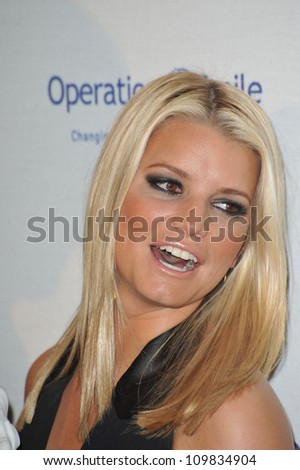LOS ANGELES, CA - OCTOBER 2, 2009: Jessica Simpson at the Operation Smile Gala at the Beverly Hilton Hotel where she was honored by the children's medical charity. - stock photo