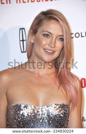 LOS ANGELES, CA - OCTOBER 21, 2014: Kate Hudson at the 28th Annual American Cinematheque Award Gala honoring Matthew McConaughey at the Beverly Hilton Hotel.  - stock photo
