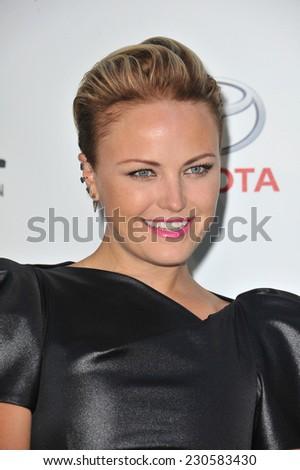 LOS ANGELES, CA - OCTOBER 18, 2014: Malin Akerman at the 2014 Environmental Media Awards at Warner Bros Studios, Burbank.  - stock photo