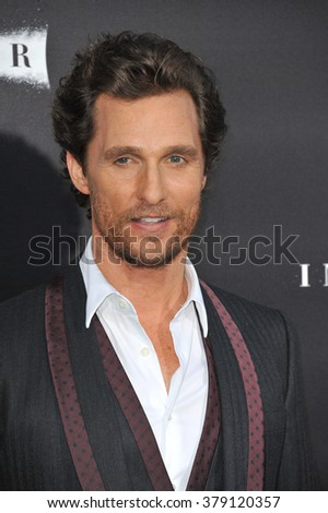 LOS ANGELES, CA - OCTOBER 26, 2014: Matthew McConaughey at the Los Angeles premiere of his movie Interstellar at the TCL Chinese Theatre, Hollywood.
